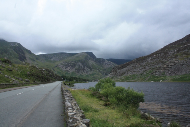 The Ogwen Valley under the clouds