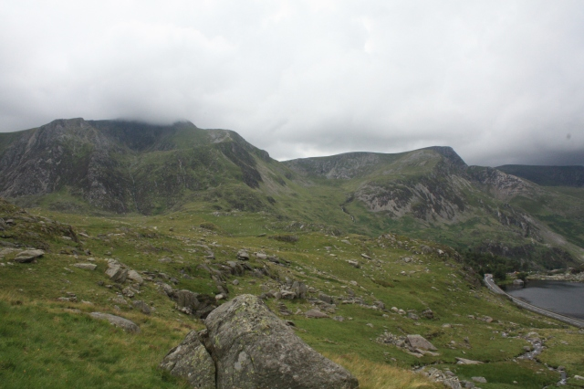 The summit of Y Garn, consumed by clouds