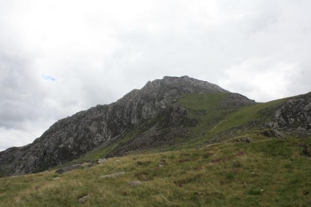 A peek at Tryfan's dragon-back like summit