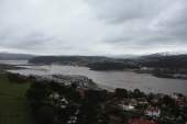 Looking over the suburbs of Llandudno and the town of Conwy