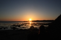 Looking over Porth Cwyfan
