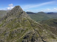 Looking over Tryfan's south ridge