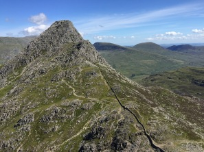 Looking over Tryfan's south ridge