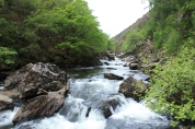 The water rapids around the Afon Glasyn