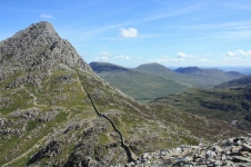 The col between Tryfan and Bristly Ridge