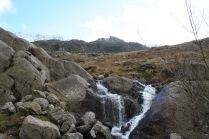 There are many waterfalls around the Cwm Idwal