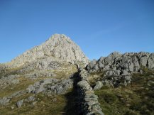 Looking towards Tryfan's summit