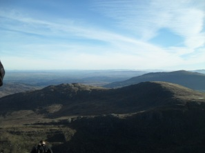 The view from Tryfan's summit