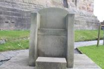 An Anglo Saxon throne