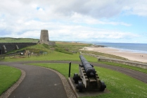 The outer wall of Bamburgh Castle