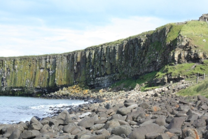 Dunstanburgh stands on atop this impressive looking cliff face known as Gull Crag