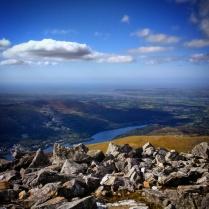 Llyn Padarn and Llanberis from the summit of Elidir Fawr