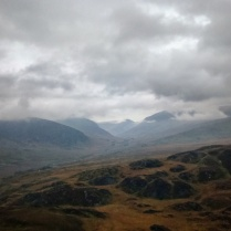 The Ogwen Valley under heavy cloud