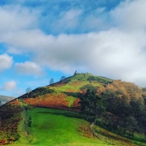 The ruins of Dinas Bran, situated on what the locals at Llangollen call, the Pancake Hill