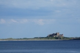 Bramburgh castle from Lindisfarne watchtower