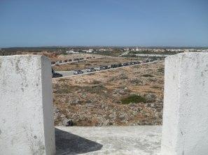 Carpark from the battlements